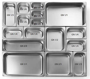 Гастроемкости из нержавеющей стали (стандарт)