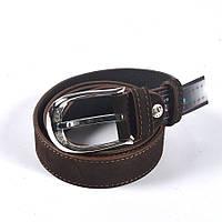 Женский стильный кожаный ремень (коричневый)