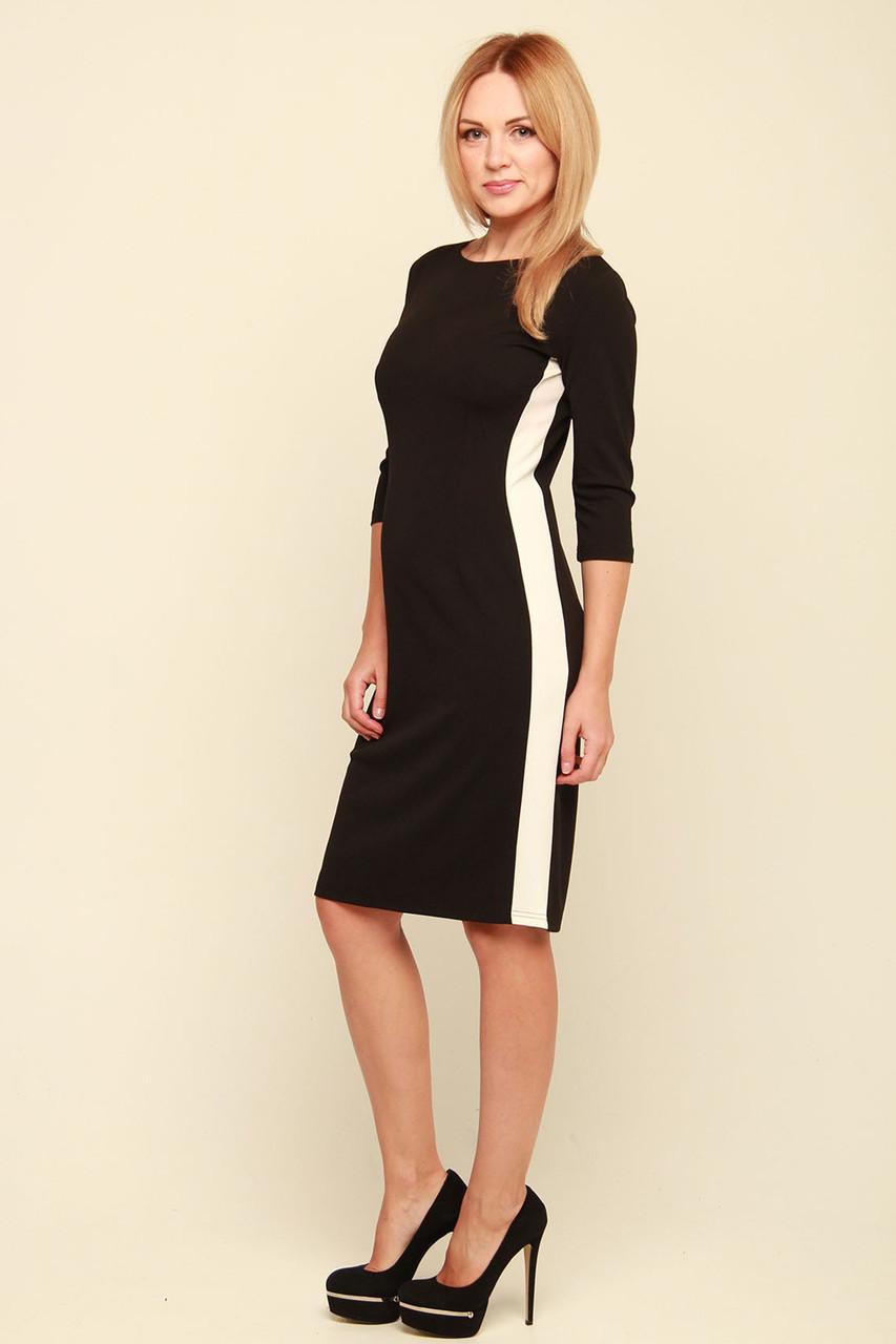 Черное платье с лампасами Конкарно - V Mode 61df599307f29