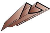 Кут внутрішній Альта-Профіль для сайдинга блок-хаус під бревно (3,05М)