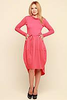 Стильное женское платье Ментона розовое