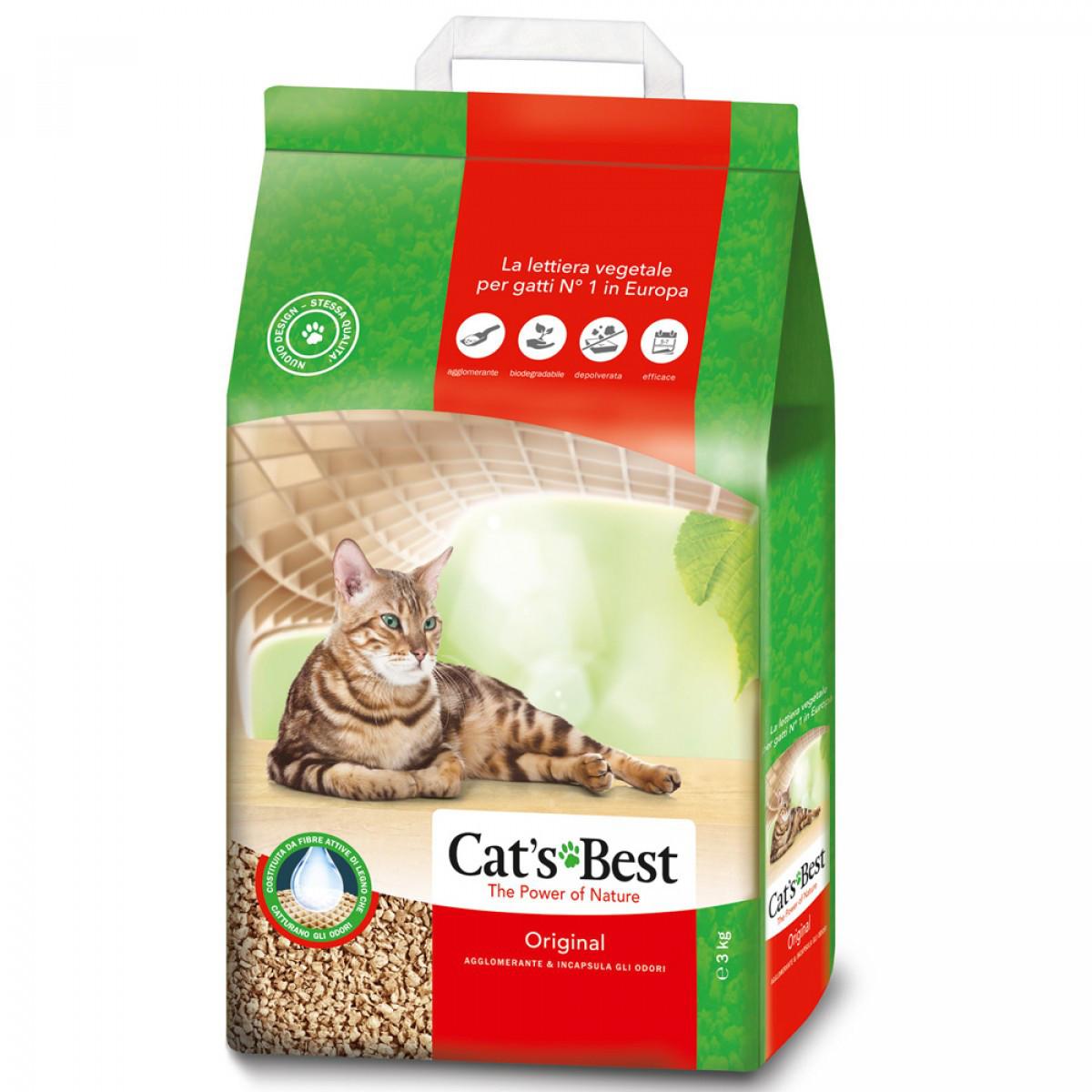 Cat's Best Original 20л ( 8,6 кг ) - наполнитель древесный