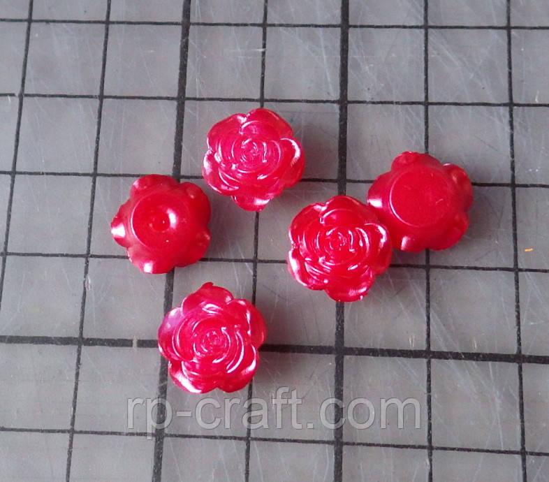 Декор для бантов и скрапбукинга.  Роза, 15 мм