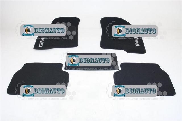 Коврик салонный Авео ворс черный к-т 4шт Aveo 1.4 16V LT (5109130-00)