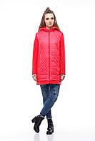 Яркая качественная куртка Эмма коралл, фото 1