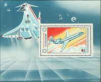 Монголия 1984 - самолёты - блок - MNH XF