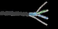 ITK Кабель связи витая пара F/UTP, кат.5E 2х2х24(0,51мм)AWG solid, LDPE, 500м, черный (для внешней прокладки)