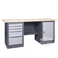Верстак (промышленный стол) 41 3МСБ/Д 850(h)х1800х620 мм
