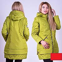 Демисезонная куртка 52-58р олива
