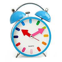 Ретро будильник Ring синий ( часы настольные )