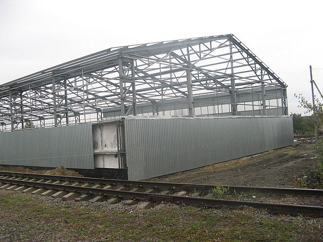 Строительство ангаров в Полтаве