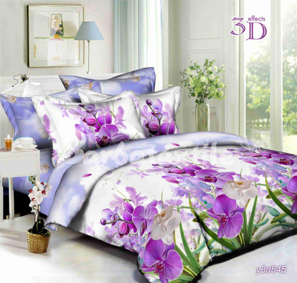 Двуспальное постельное бельё из бязи Ирис