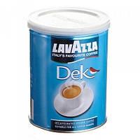 Кофе молотый без кофеина Lavazza Dek в жестяной банке 250 гр. OriginaL