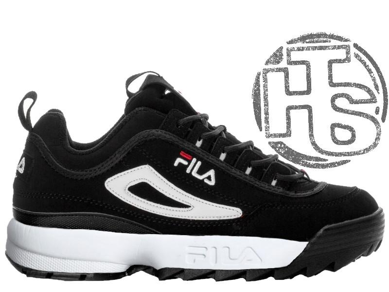 Женские кроссовки Fila Disruptor II 2 Black White Red FW01653-018. В наличии cec4c620c6224