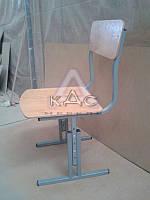 """Стулья """"РПФ"""" регулируемые по высоте для 1-12 классов, стулья школьные, прямая фанера"""