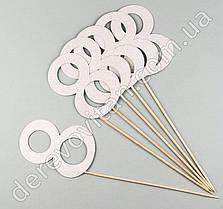 """Топпер для декора """"8"""" серебро, 6 шт., 9×38 см"""