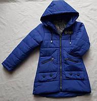 Детская куртка удлиненная весна/осень на девочку 6-10 лет оптом