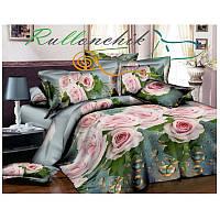 Красивое постельное бельё Розы полуторное