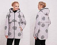 Женская куртка в больших размерах с принтом 202151
