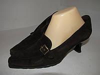 Gabor_Германия, замша, женские стильные нарядные туфли 4р ст.24,5см H03