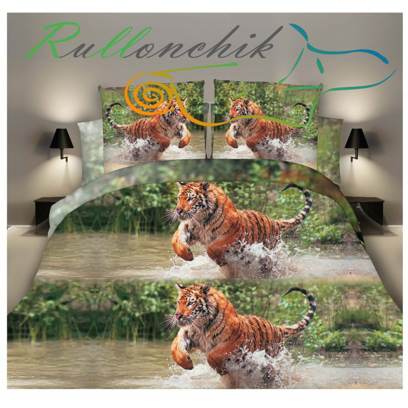 Постельное бельё Ранфорс Тигр (2-х сп)
