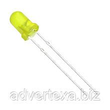 Жовтий світлодіод 3 мм.