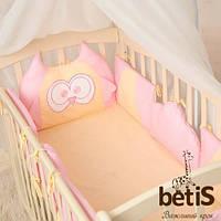 Защита в детскую кроватку Совенятко Совенок Цвет в ассортименте 30см Бетис Розовый