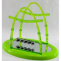 Шары Ньютона зеленые27х23,5х16 см - видеообзор, удивительная конструкция -колыбель Ньютона