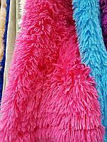 Плед травка из искусственного меха 220х240 Koloco ,ярко розовый