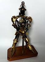 Подарочный рыцарь из нержавеющей стали и латуни высотой 48 см.