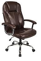 Офисное компьютерное кресло Homekraft DELUXE коричневое