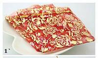 Мешочки из органзы для упаковки подарков и сувениров. Цвет Красный 10х12см.