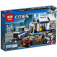 """Конструктор Lepin 02017 аналог LEGO City Сити 60139  """"Полицейский командный центр"""", 374детали"""