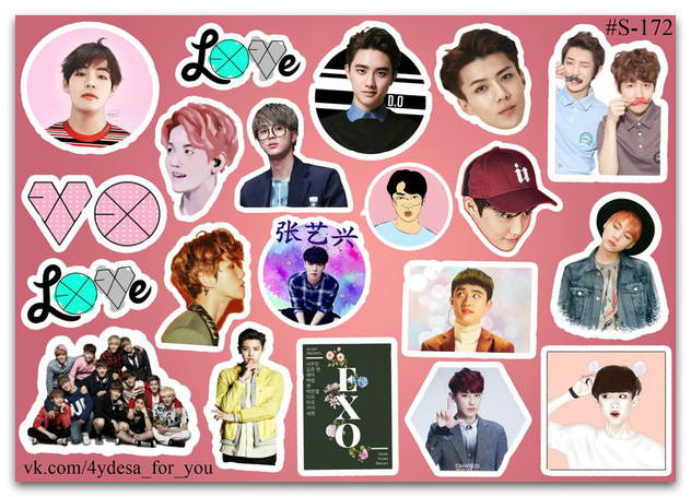 Stickers Pack EXO #172