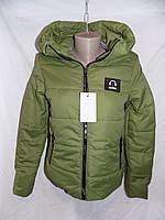 Женская куртка весна/осень с капюшоном music оптом