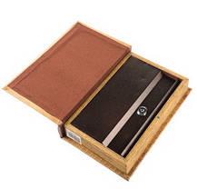 Шкатулка-книга на ключе 100 долларов 26*17*5 см (020UE), фото 3