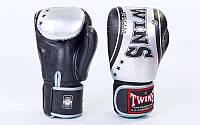 Перчатки боксерские кожаные на липучке TWINS FBGV-TW4-BKS-14
