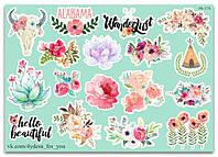 Stickers Pack Flowers, Цветы #176