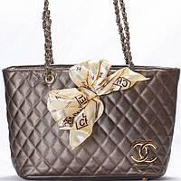 Женская сумка CHANEL  темно серого цвета