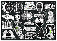 Stickers Pack Black&White #177