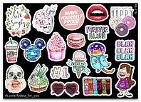 Stickers Pack Black&Color #178