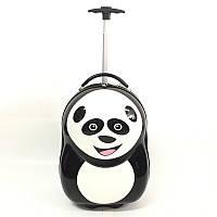 """Чемодан пластиковый на колёсах с ручкой """" Панда"""""""