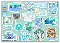 Stickers Pack Watercolor #179