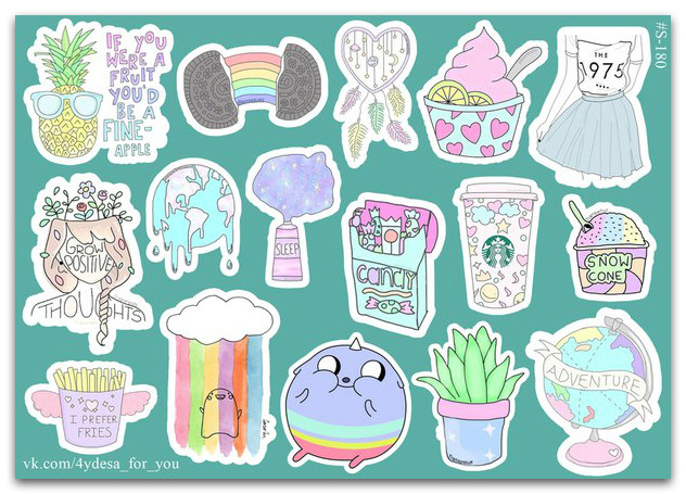 Stickers Pack Watercolor #180