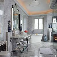 Облицовка мрамором ванных комнат