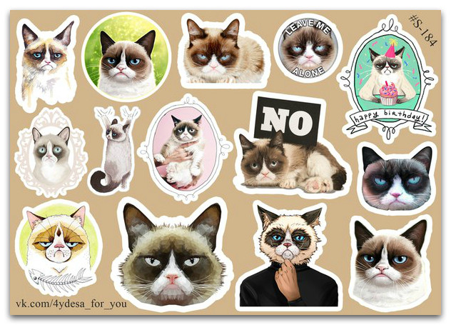 Stickers Pack Cat #184