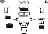 Накладки на панель Skoda Octavia (A5) 2004+
