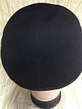 Мужской картуз из драпа синего и чёрного цвета 55 56, фото 6