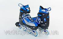 Роликовые коньки раздвижные KEPAI F1-K03-BL