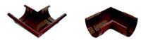 Кут зовнішній / зовнішній для ринви 90 гр Бриза (Bryza) для ринви 100 мм, угол внешний / внутренний 90 гр.